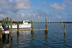 Old Boat and Fishing Dock Royalty Free Stock Images