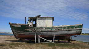 Old Boat at Flower's Cove Royalty Free Stock Photo