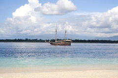 Old boat in Gili Islands, Bali Stock Photo
