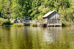 Old boat house Stock Photography