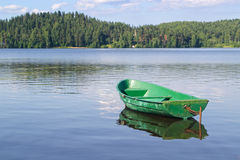 Old boat. On the lake Royalty Free Stock Image