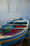 Old boat on the Lake. Ganzirri, Sicily - Italy Royalty Free Stock Images