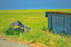 Old boat on the land Royalty Free Stock Photography