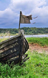 Old boat. An old boat after long service, have given up Stock Image