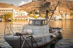 Old boat in marina of Balaklava city Stock Photography