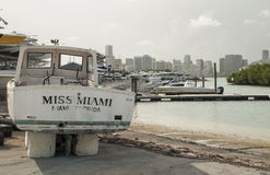 Old boat in Miami Stock Images