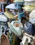 Old Boat motors Stock Image