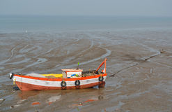 Old boat near seashore Stock Photography