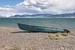 Old boat. Near Son-Kul lake, naryn region, Kyrgyzstan Stock Image