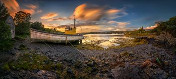 Kyleakin old harbour royalty free stock images