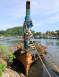 Old Boat in Padang, Idonesia Royalty Free Stock Images