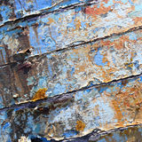 Old boat with peeling paint background texture Royalty Free Stock Images