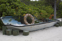 Old Boat Planter Stock Image