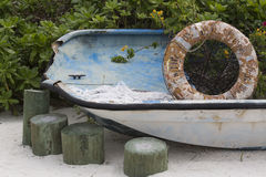 Old Boat Planter Royalty Free Stock Photos