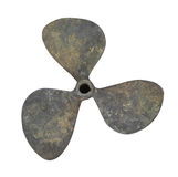Old boat propeller isolated. Stock Photos