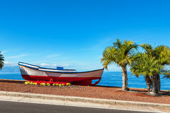 Old boat. Puerto de Santiago, Tenerife, Spain stock photos