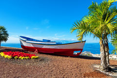 Old boat. Puerto de Santiago, Tenerife, Spain Royalty Free Stock Photo
