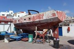Old boat repair Royalty Free Stock Photos