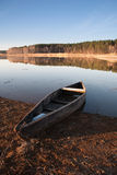 Old boat on the river bank Royalty Free Stock Photography