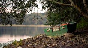 Old boat. Boat at River Daugava pier, Latvia Royalty Free Stock Image