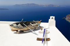 Old boat on the roof Stock Photography
