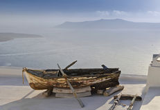 Santorini Boat Royalty Free Stock Photography