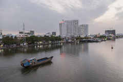 Old boat on the Saigon river Royalty Free Stock Image