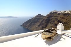 Old boat in Santorini Stock Photos