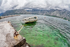 Old boat in the sea Stock Photography