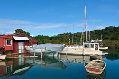 Old boat shed - New Zealand Royalty Free Stock Photos