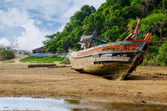 Old boat on the shore Royalty Free Stock Photography