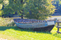 Old boat on  shore Royalty Free Stock Image