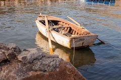 Old boat by the shore. royalty free stock images