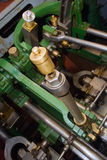 Old boat steam engine. Inverter Royalty Free Stock Photo