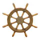 Old boat steering wheel Royalty Free Stock Images