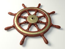 Old boat steering wheel Royalty Free Stock Image