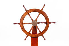 Old boat steering wheel stock photos