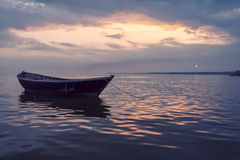 Old boat on sunset Royalty Free Stock Photography