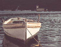 Old boat on sunset Royalty Free Stock Image