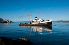 Old boat in Tierra del Fuego, South Argentina Stock Photos
