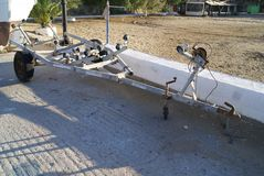 Old Boat Trailer Royalty Free Stock Image