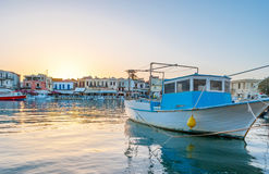 The old boat in Venetian Port Stock Photos