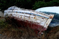 Old boat waiting for a better time Royalty Free Stock Photography