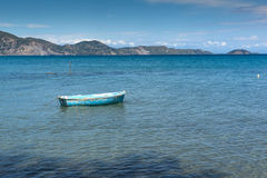 Old boat in the water, koukla beach, Zakynthos island Royalty Free Stock Images