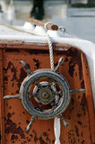 Old boat wheel Royalty Free Stock Images