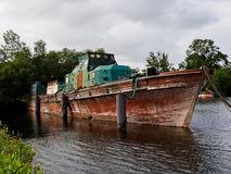Old boat in Wilhelmshaven. Germany Royalty Free Stock Photos