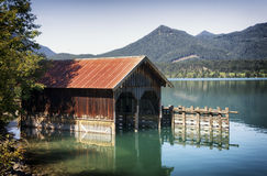 Old boathouse Stock Image