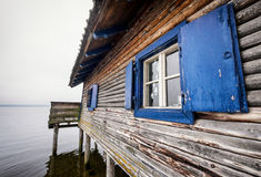 Old boathouse Stock Images