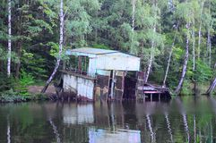 the old boathouse Stock Photo