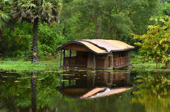 Old Boathouse. Resort Old South Stock Photo
